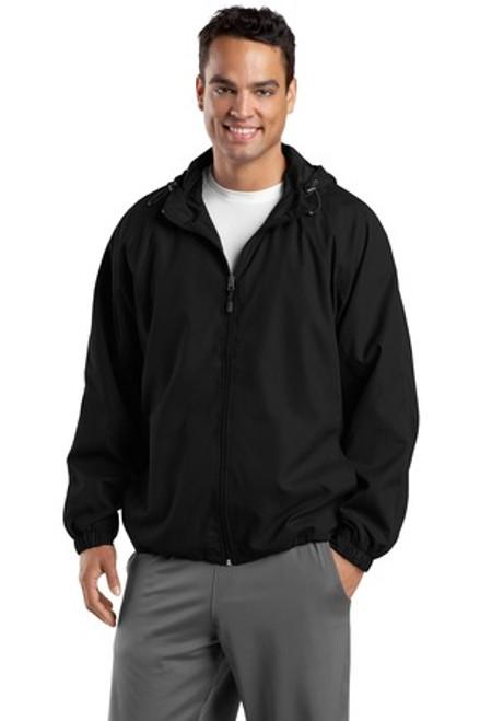 Discontinued Sport-Tek Tall Hooded Raglan Jacket (01000-25); Primary; Decoration Type: