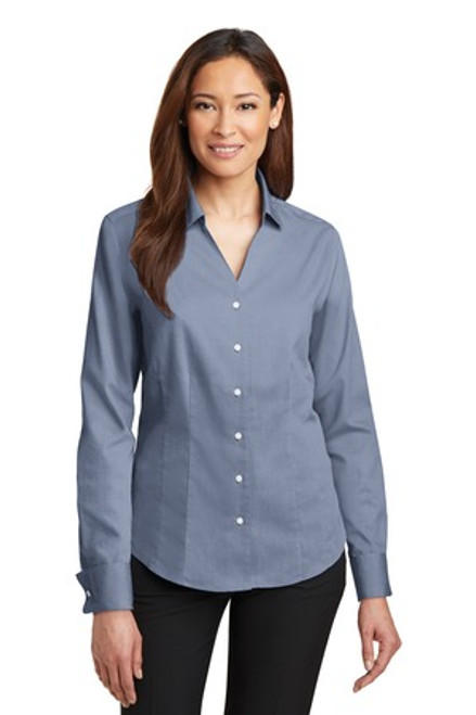 Discontinued Red House - Ladies French Cuff Non-Iron Pinpoint Oxford Shirt (00849-25); Primary; Decoration Type: