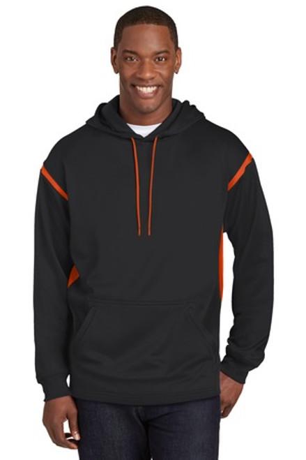 Discontinued Sport-Tek Tall Tech Fleece Colorblock Hooded Sweatshirt (01092-25); Primary; Decoration Type: