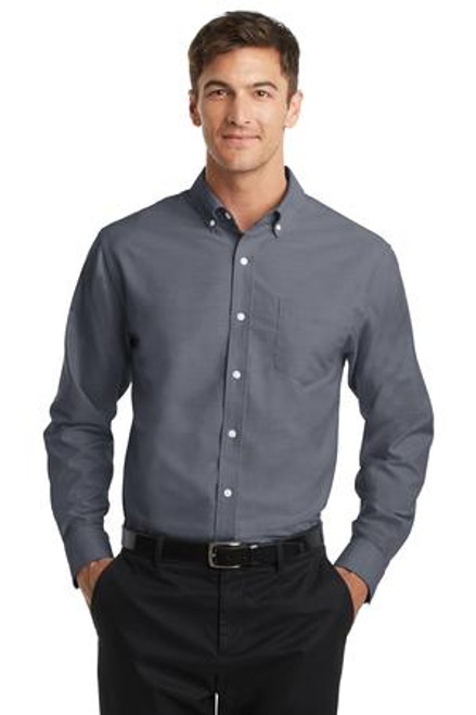 Port Authority Superpro Oxford Shirt (01404-25); Primary; Decoration Type: