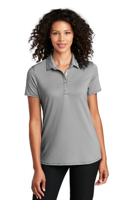Port Authority Ladies Gingham Polo (01793-25); Primary; Decoration Type: