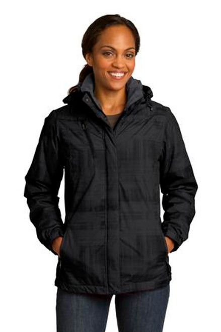 Port Authority Ladies Brushstroke Print Insulated Jacket (00700-25); Primary; Decoration Type: