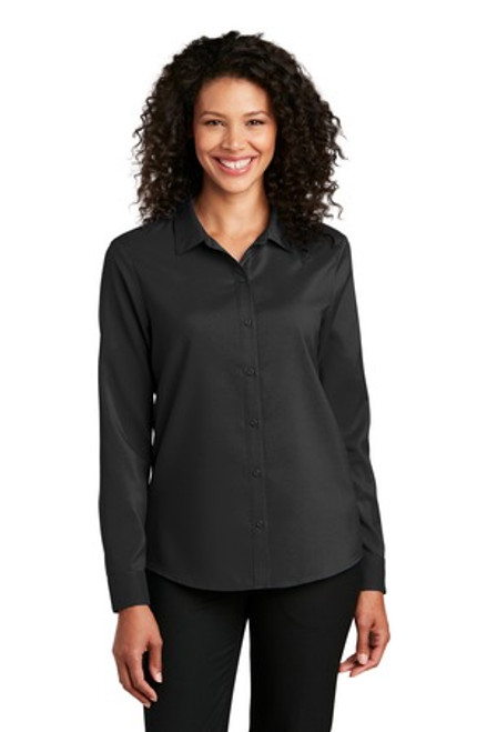 Port Authority Ladies Long Sleeve Performance Staff Shirt (00043-25); Primary; Decoration Type: