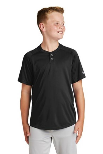 New Era Youth Diamond Era 2-Button Jersey (01433-25); Primary; Decoration Type: