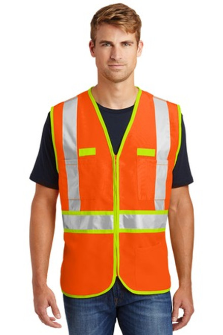 Cornerstone - Ansi 107 Class 2 Dual-Color Safety Vest (00413-25); Primary; Decoration Type: