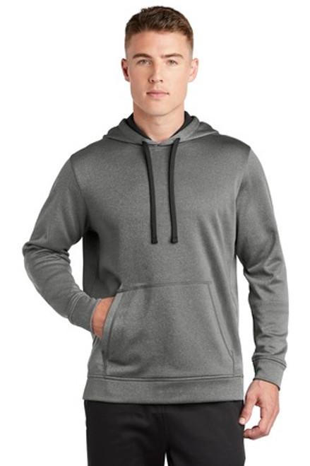 Sport-Tek Posicharge Sport-Wick Heather Fleece Hooded Pullover (01505-25); Primary; Decoration Type: