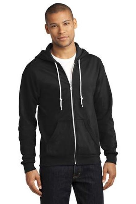 Anvil Full-Zip Hooded Sweatshirt (00756-25); Primary; Decoration Type: