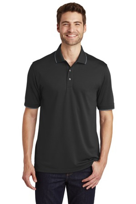 Port Authority Dry Zone Uv Micro-Mesh Tipped Polo (01628-25); Primary; Decoration Type: