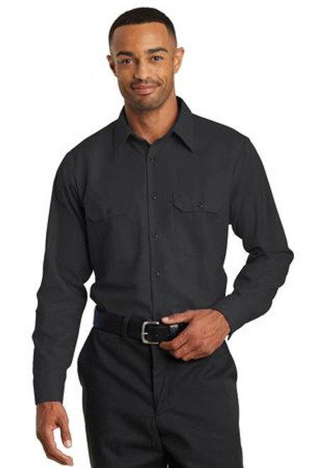 Discontinued Red Kap Long Sleeve Solid Ripstop Shirt (01713-25); Primary; Decoration Type:
