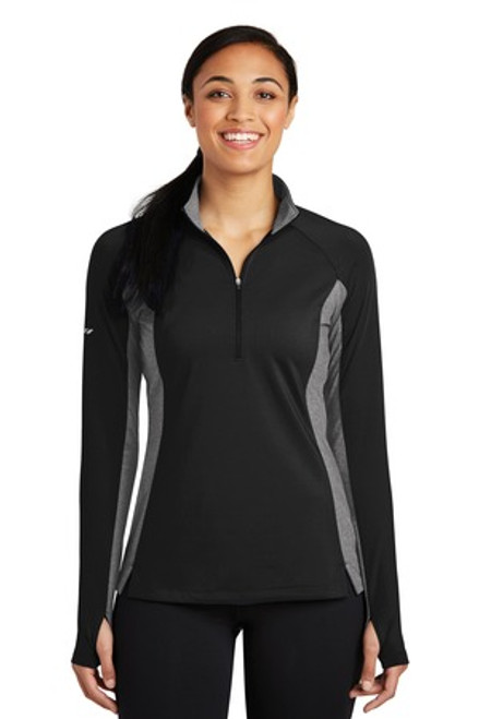 Sport-Tek Ladies Sport-Wick Stretch Contrast 1/2-Zip Pullover (00469-25); Primary; Decoration Type:
