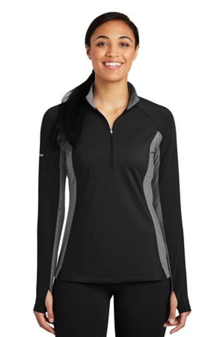 Sport-Tek Ladies Sport-Wick Stretch Contrast 1/2-Zip Pullover (00469-25); Primary; Decoration Type: