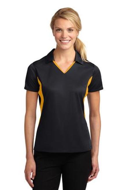 Sport-Tek Ladies Side Blocked Micropique Sport-Wick Polo (01881-25); Primary; Decoration Type: