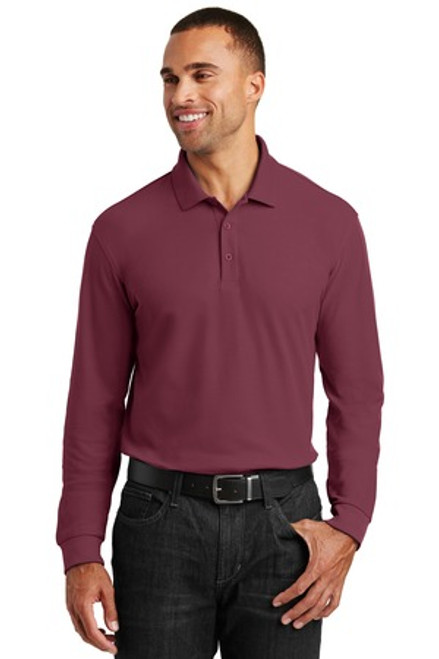 Port Authority Long Sleeve Core Classic Pique Polo (01994-25); Primary; Decoration Type: