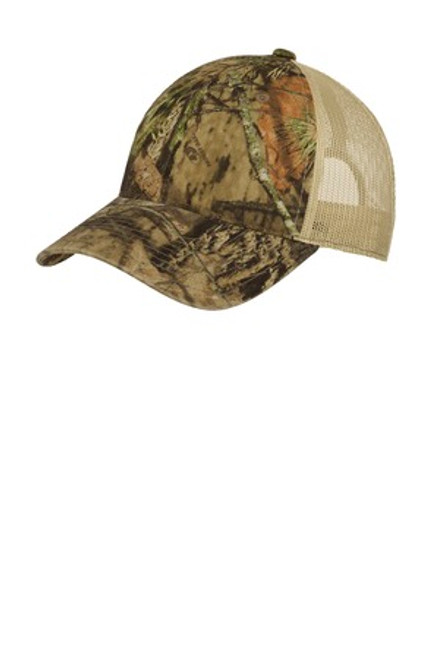 Port Authority Unstructured Camouflage Mesh Back Cap (01852-25); Primary; Decoration Type: