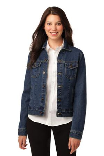 Port Authority Ladies Denim Jacket (00218-25); Primary; Decoration Type: