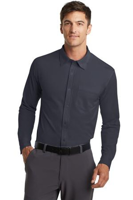 Port Authority Dimension Knit Dress Shirt (01208-25); Primary; Decoration Type: