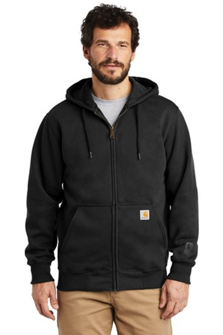 Carhartt Rain Defender Paxton Heavyweight Hooded Zip-Front Sweatshirt (00740-25); Primary; Decoration Type:
