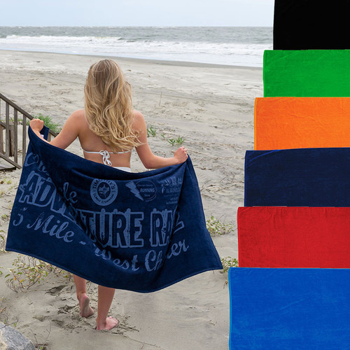"""Pro Towels Jewel Collection Beach Towel - Colors (30"""" X 60"""") (02073-19); Primary; Decoration Type:"""