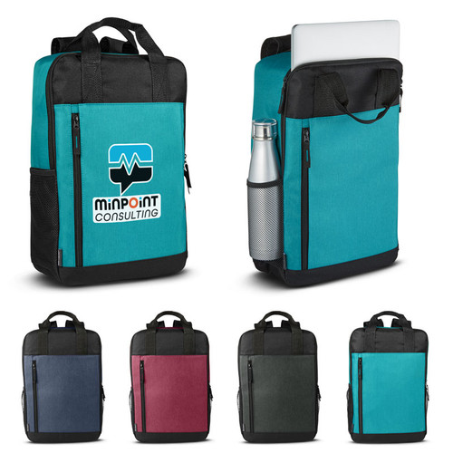 Austin Nylon Collection-Laptop Backpack  (02078-19); Primary; Decoration Type: