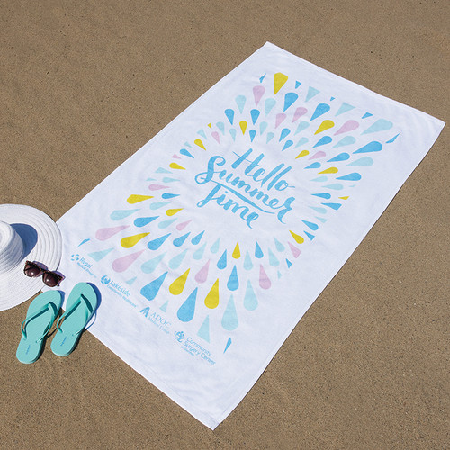 """Pro Towels Diamond Collection Beach Towel (35"""" X 60"""") (02102-19); Primary; Decoration Type:"""