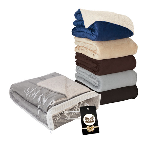 Fairwood Oversize Sherpa Blanket & Hangtag (00168-17); DecoratedHigh; Decoration Type: