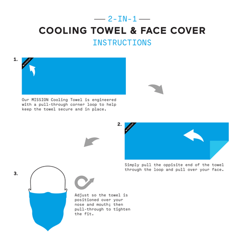 Mission Enduracool Large Cooling Towel/Face Cover (01013-01)