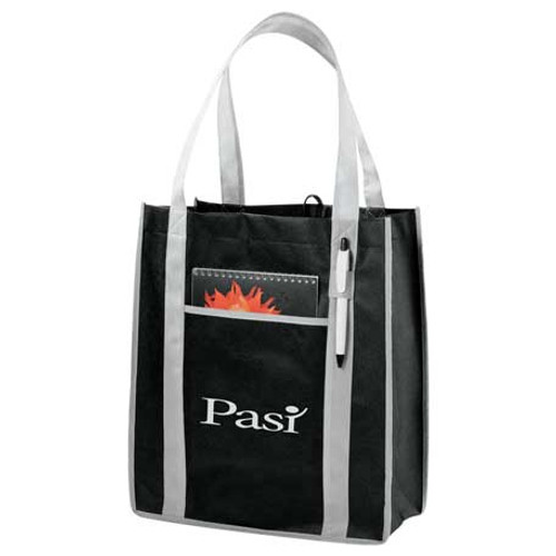 Contrast Non-Woven Carry-All Tote (01028-01)