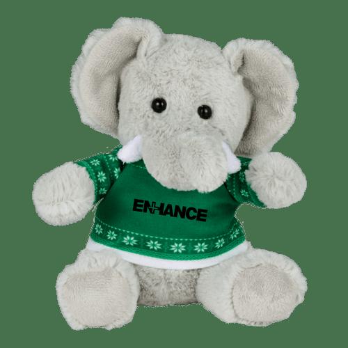 6&Quot; Ugly Sweater Plush Elephant (02082-01)