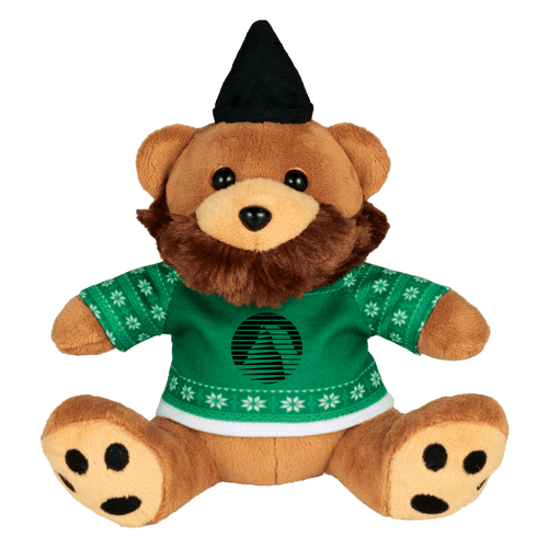 6&Quot; Ugly Sweater Hipster Plush Bear (02083-01)