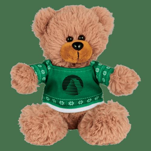 6&Quot; Ugly Sweater Sitting Plush Bear (02085-01)