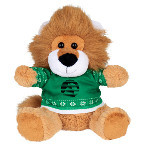 "6"" Ugly Sweater Plush Lion (02086-01)"
