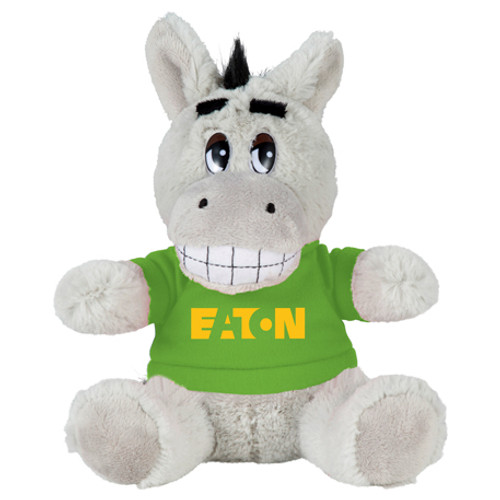 "6"" Plush Donkey With Shirt (02120-01)"