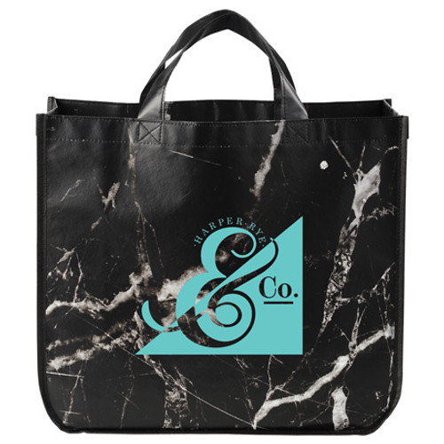 Marble Laminated Non-Woven Tote (02893-01)
