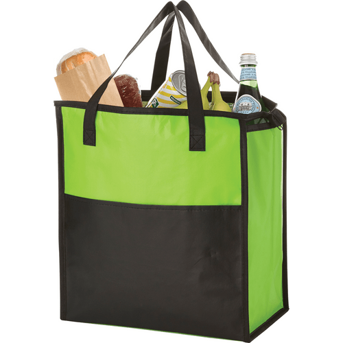 Matte Laminated Insulated Grocery Tote (03164-01)