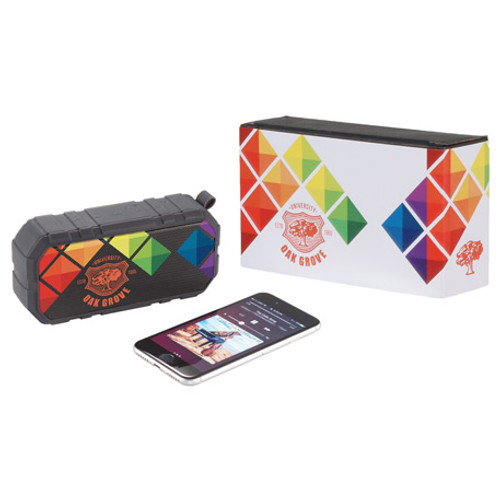 Brick Outdoor Bluetooth Speaker W/ Full Color Wrap (03493-01)