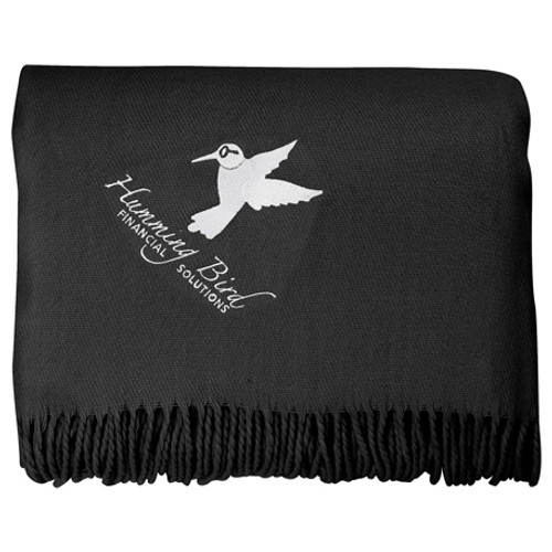Oversized Lightweight Throw Blanket With Fringes (04029-01)