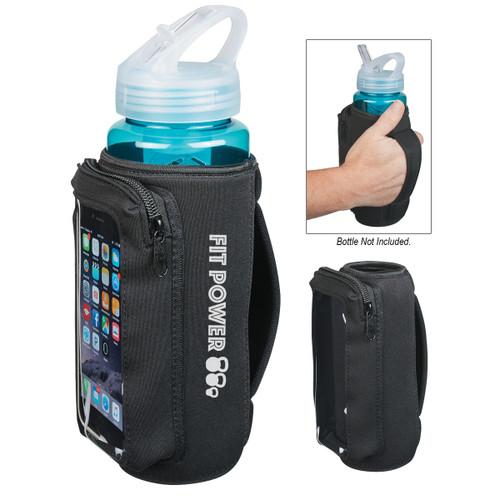 Neoprene Bottle Kooler With Phone Holder (01211-00); Primary; Decoration Type: