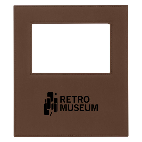 "4"" X 6"" Velvet Touch Photo Frame (01280-00); Primary; Decoration Type: Laser Engraving"