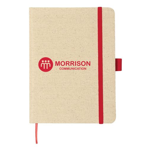 """5"""" X 7"""" Canvas Journal Notebook (01536-00); Primary; Decoration Type: Silk-Screen"""
