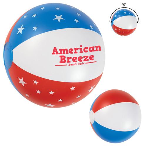 "16"" Usa Beach Ball (01821-00); Primary; Decoration Type:"