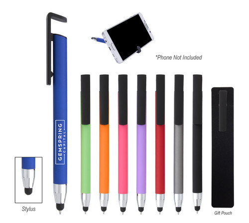 Sleek Write Stylus Pen With Phone Stand  (02148-00); Primary; Decoration Type: