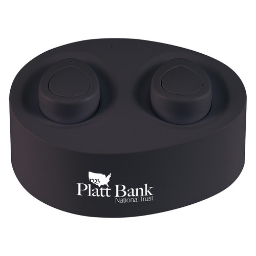 Wireless Earbuds With Charging Base (02208-00); Primary; Decoration Type: Pad-Print