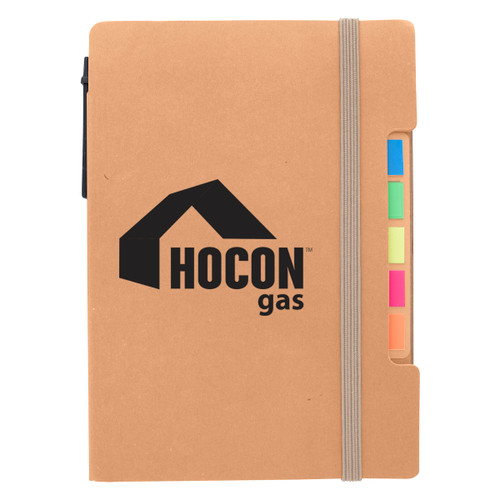 Notepad With Sticky Flags And Pen (02278-00); Primary; Decoration Type: Silk-Screen