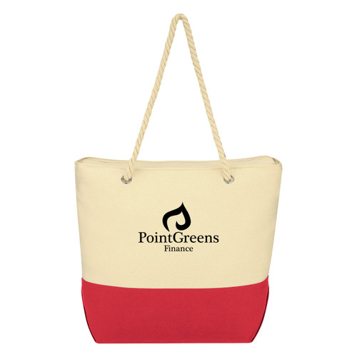 Cruiser Rope Tote Bag (02313-00); Primary; Decoration Type: Silk-Screen