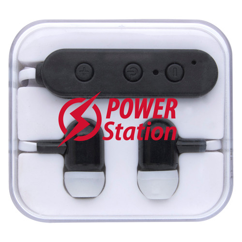 Wireless Earbuds In Square Case (02327-00); Primary; Decoration Type: Silk-Screen