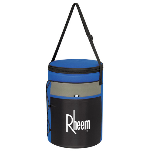 Cylindrical Insulated Kooler Bag (02392-00); Primary; Decoration Type: Silk-Screen