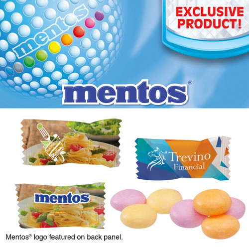 Individually Wrapped Assorted Fruit Mentos (02673-00); Primary; Decoration Type: