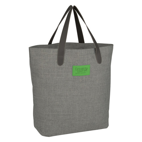 Hanson Heathered Tote Bag (03076-00); Primary; Decoration Type: Debossed