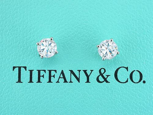 Tiffany & Co Diamond Earrings Studs 2ct Look F/Internally Flawless XXX