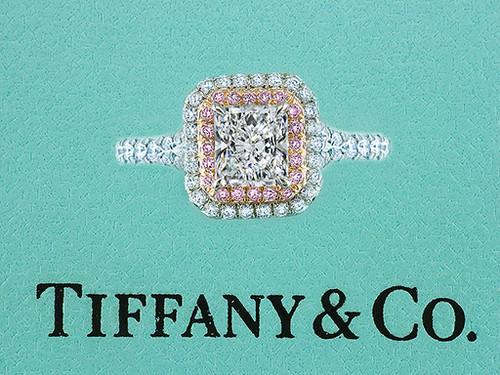 Tiffany & Co Engagement Ring Soleste Pink Diamonds 1.65cttw F/VVS1 Platinum